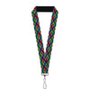"Lanyard - 1.0"" - Chevy Bowties 5-Row Black Multi Color"