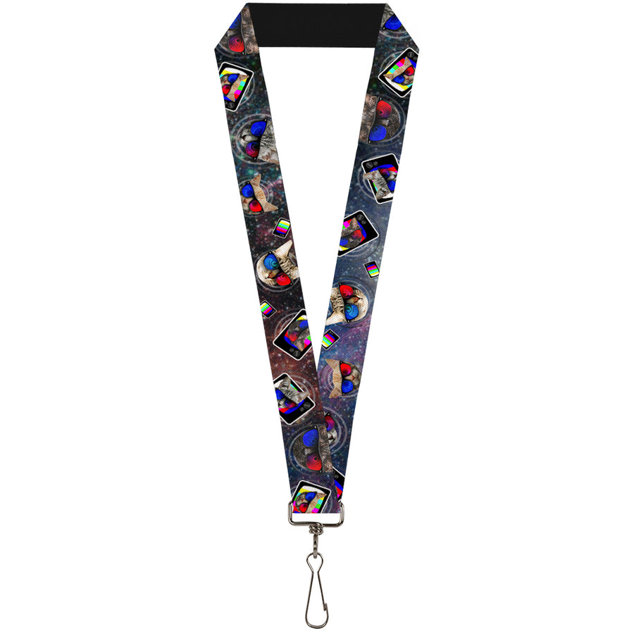"Lanyard - 1.0"" - 3-D TV Cats in Space"