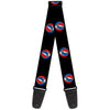 Guitar Strap - Steal Your Face Repeat Black Color