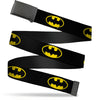 Black Buckle Web Belt - Batman Shield Black/Yellow Webbing