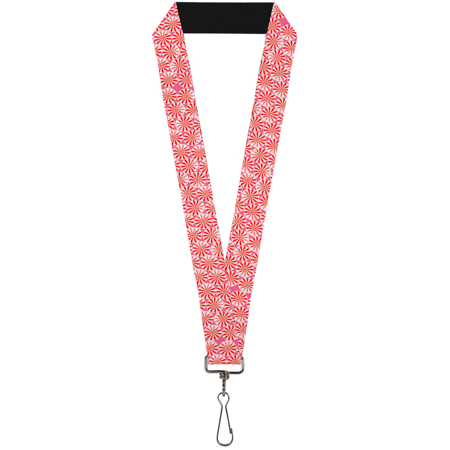 "Lanyard - 1.0"" - Peppermint Candies"