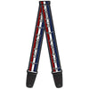 Guitar Strap - Mustang Text w Tri-Bar Stripe