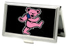 Business Card Holder - SMALL - Dancing Bear FCG Black Pink