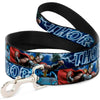 Dog Leash - Avengers THOR Hammer/Action Pose Galaxy Blues/White