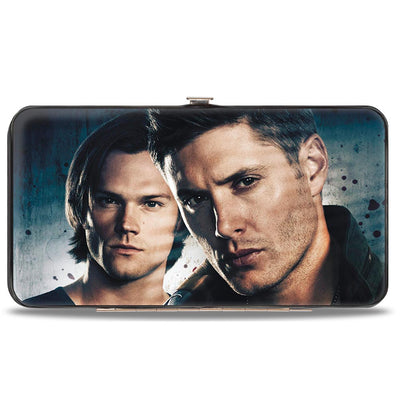 Hinged Wallet - Winchester Brothers CLOSE-UP + SUPERNATURAL Logo Black Grays
