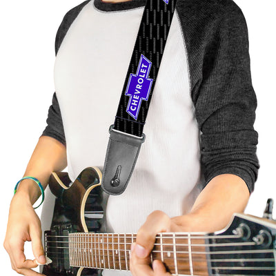 Guitar Strap - Chevy Bowtie REPEAT w Text