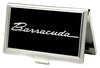 Business Card Holder - SMALL - BARRACUDA Script Logo FCG Black Silver