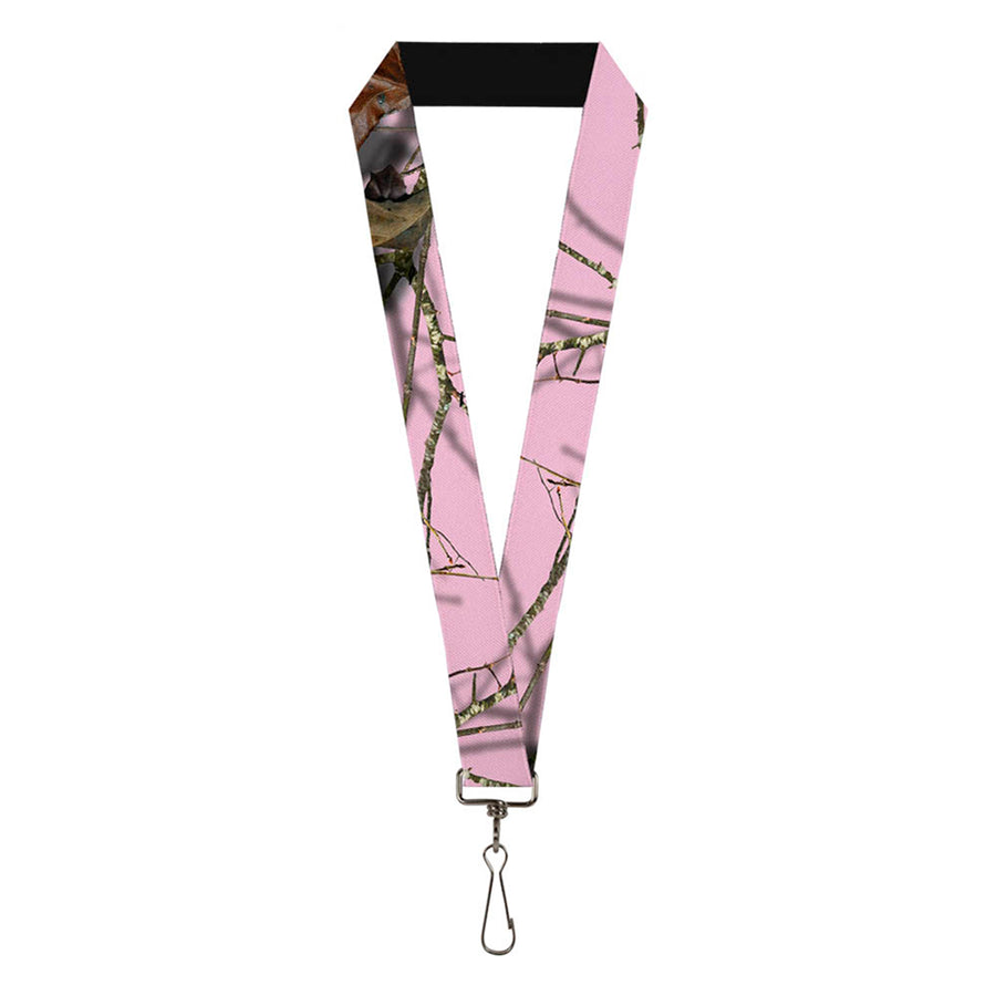"Lanyard - 1.0"" - Mossy Oak Country Roots Camo Baby Pink"