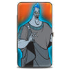 Hinged Wallet - Hades Blue Glow Pose Flames Orange Yellows