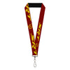 "Lanyard - 1.0"" - Dodge SRT Hellcat Logo Burgundy Yellow"