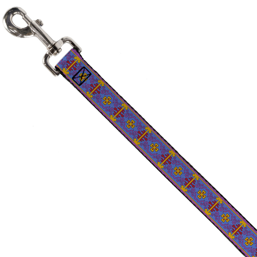 Dog Leash - Classic Aladdin Magic Carpet Tapestry Blue/Purple/Gold/Red