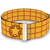 Cinch Waist Belt - Toy Story Woody Bounding Plaid Shirt Sheriff Star Gold Red