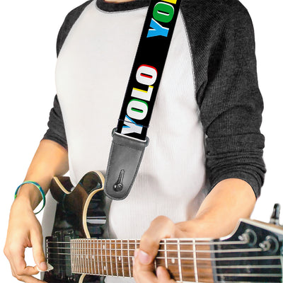 Guitar Strap - YOLO Black Multi Color