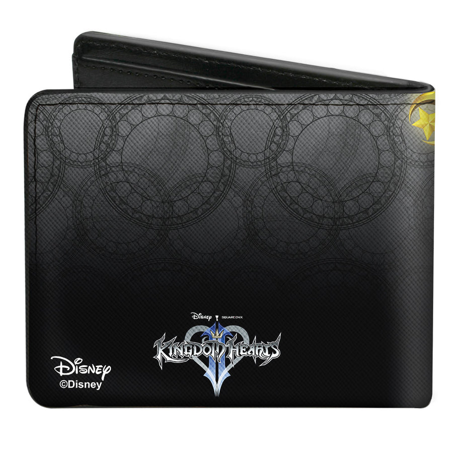 Bi-Fold Wallet - Kingdom Hearts Birth by Sleep King Mickey Star Seeker Keyblade Pose