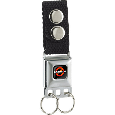 Keychain - BAZINGA! Logo Full Color Black