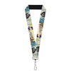 "Lanyard - 1.0"" - Snow White Dwarves Old Witch Evil Queen Scenes"