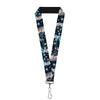 "Lanyard - 1.0"" - Elsa the Snow Queen Poses PERFECT AND POWERFUL Blues White"