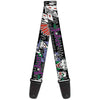 Guitar Strap - The Joker Pose Cards HAHAHAHA Black Gray