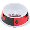PBWL1-MLM-7.5-JKCL Single Melamine Pet Bowl - 7 5 (16oz) - Harley Quinn Diamon Icon + Diamonds