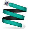 The Little Mermaid Clam Shell Full Color Black Purples Seatbelt Belt - Ariel's Scales Turquoise Blues Webbing