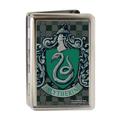 Business Card Holder - LARGE - Harry Potter SLYTHERIN Crest FCG Green Gray