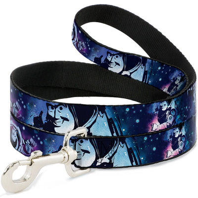 Dog Leash - Buzz Lightyear Poses Galaxy Blues