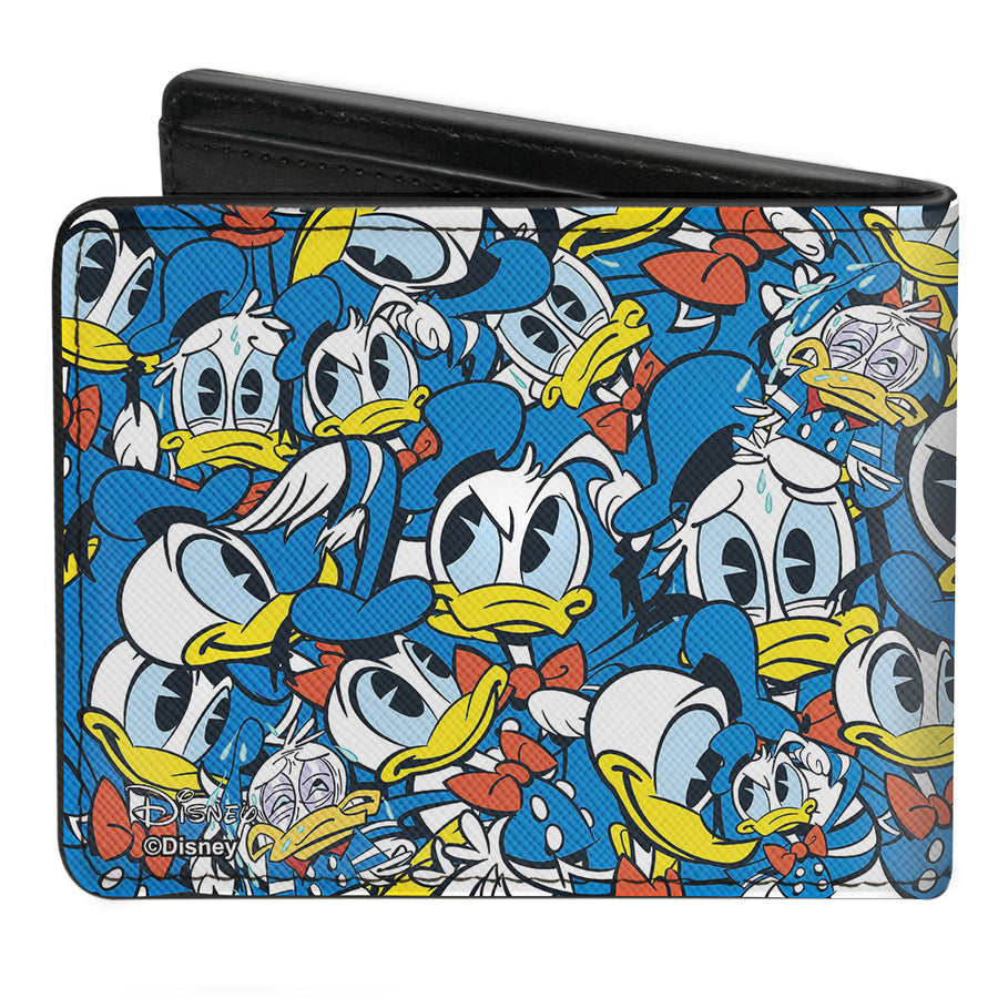 Bi-Fold Wallet - Donald Duck 5-Poses Stacked Collage