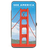 Hinged Wallet - SEE AMERICA-GOLDEN GATE NATIONAL RECREATION AREA Bridge Scene