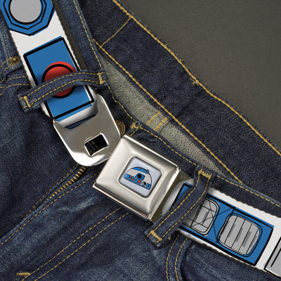 Star Wars R2-D2 Head Full Color White/Black/Blue/Gray/Red Seatbelt Belt - Star Wars R2-D2 Bounding Parts White/Black/Blue/Gray/Red Webbing