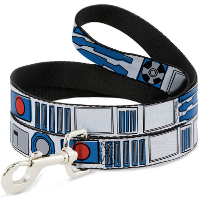 Dog Leash - Star Wars R2-D2 Bounding Parts4 White/Black/Blue/Gray/Red