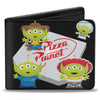 Bi-Fold Wallet - Toy Story Pizza Planet Aliens 4-Toy Story Character Cosplay Mashup Black