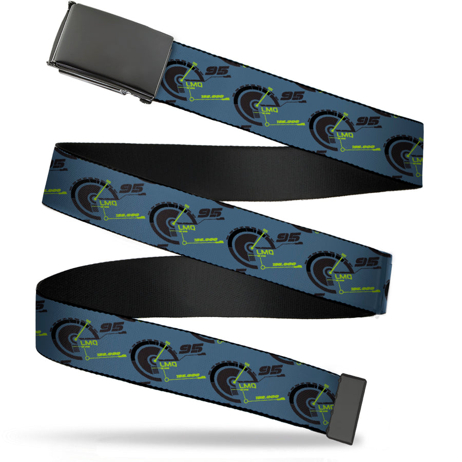 Black Buckle Web Belt - Cars 3 LMQ/95 Tachometer Blue/Black/Green Webbing