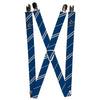 "Suspenders - 1.0"" - RAVENCLAW Crest Stripe Blue Gray"