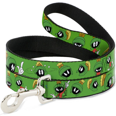 Dog Leash - MARVIN THE MARTIAN w/Poses/Expressions Green