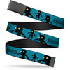 Black Buckle Web Belt - KINGDOM HEARTS Shadow Poses Turquoise/Black Webbing