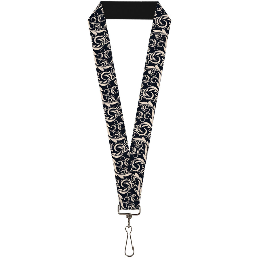 "Lanyard - 1.0"" - Filigree Navy Khaki"