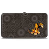 Hinged Wallet - The Lion King Scar Pose Tribal Pattern Browns