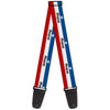 Guitar Strap - MOPAR Logo Stripe Blue White Red