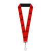 "Lanyard - 1.0"" - Reverse Flash Logo Red Black"