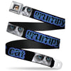 Grumpy Cat Face Full Color Black Seatbelt Belt - GRUMPY CAT w/Face CLOSE-UP Black/Blues Webbing
