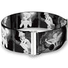 Cinch Waist Belt - Tinker Bell Scenes Black White