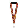 "Lanyard - 1.0"" - THE FLASH Logo3 Poses Black Red Gold"