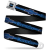 Chevrolet Horizon Bowtie Full Color Black Silver Blue Seatbelt Belt - CHEVROLET/Horizon Bowtie Ombre Black/Blue/Silver/Blue Webbing