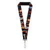 "MARVEL X-MEN Lanyard - 1.0"" - X-MEN Logo 13-Character Pose Blocks Black Red Silver"