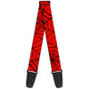 MARVEL COMICS Guitar Strap - Spiderweb Red Black