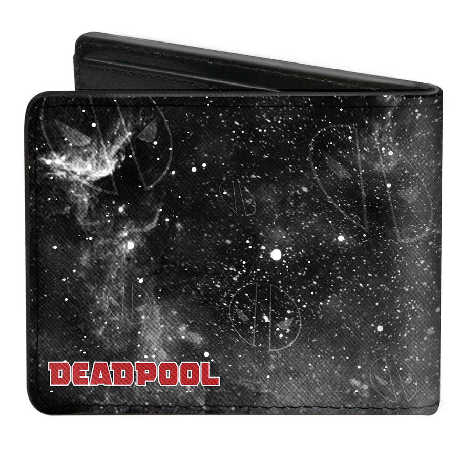 MARVEL DEADPOOL Bi-Fold Wallet - Deadpool Kills Deadpool Again Riding Charging Unicorn Issue #2 Cover Pose Galaxy Grays