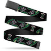 Black Buckle Web Belt - SOUTH SIDE SERPENTS Patch/Serpents Scattered Black Webbing