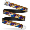 Belle & Beast Ball Scene Full Color Seatbelt Belt - Beast & Belle Ball Scene Poses2 Webbing