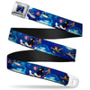 Captain Hook's Hook Full Color Seatbelt Belt - Peter Pan Flying Scene Webbing