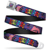 Scattered Candy Full Color Purples Seatbelt Belt - BING BONG Poses/Candy Purples/Multi Color Webbing